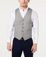 Michael Kors Men's Classic-Fit Airsoft Stretch Grey Solid Suit Vest