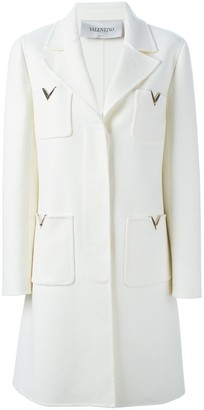 Valentino 'Rockstud' single breasted coat