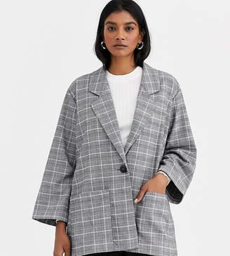 Monki check blazer-Multi