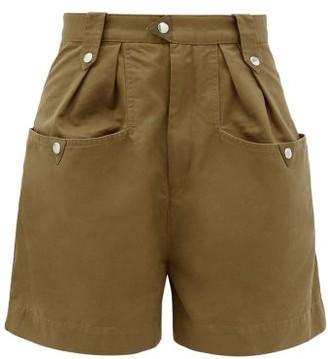 Etoile Isabel Marant Palino High-rise Cotton Shorts - Khaki