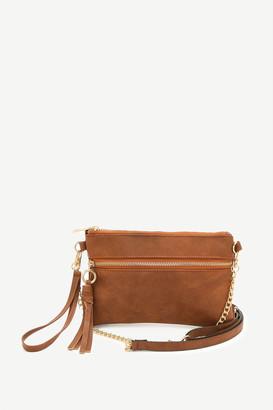 Ardene Faux Leather Crossbody Bag