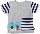 Zutano This Way Big Pocket Tee (Baby) - Heathered Gray-18 Months