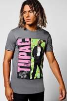 boohoo Black Tupac 90's Crew Neck T-Shirt black