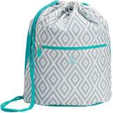 Pottery Barn Teen Gear-Up Preppy Diamond Cinch Sack, Gray