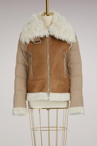 Moncler Kilia jacket with shearling collar