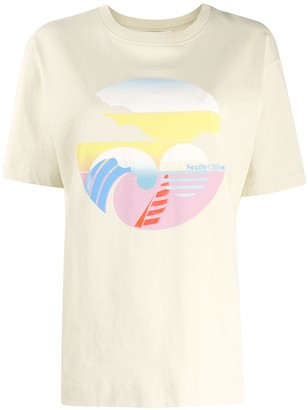 See by Chloe contrast print T-shirt