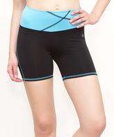 Black & Blue Sport Shorts