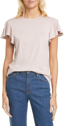Ted Baker Beaded Detail Flounce Sleeve Top