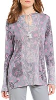 Sigrid Olsen Signature Printed Pullover Knit Top