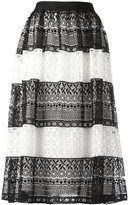 Alice + Olivia Alice+Olivia - striped lace skirt - women - Polyester/Spandex/Elastane - 6
