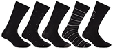 John Lewis City Socks, Pack Of 5, Black