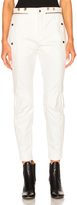 Chloé Washed Denim Moto Pants