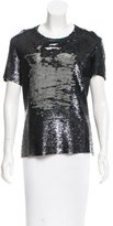 IRO Sequin Short Sleeve Top