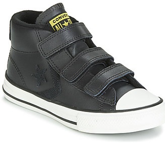 Converse STAR PLAYER 3V ASTEROID LEATHER HI girls's Shoes (High-top Trainers) in Black