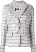 Herno two-button puffer jacket - women - Polyester/Goose Down/Polyimide - 42