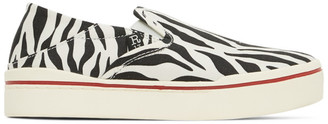 R 13 Black and White Zebra Sneakers