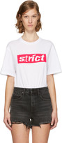 Alexander Wang White Boxy Crewneck 'Strict' T-Shirt