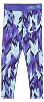 Nike Blue and Purple Printed Hypercool Leggings