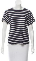 Sea Striped Fringe-Accented Top