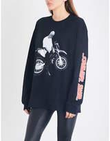 Justin Bieber Ladies Stadium Tour Motorcycle Cotton-Jersey Top