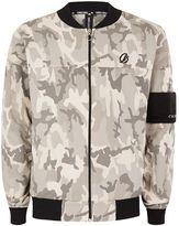 Criminal Damage Grey Camo Cotton Bomber Jacket*