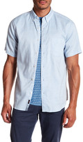 Faherty Short Sleeve Button Down Regular Fit Ventura Shirt