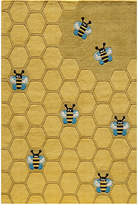 Momeni Area Rug, Lil Mo Whimsy LMJ-15 Honeycomb Gold 5' x 7'