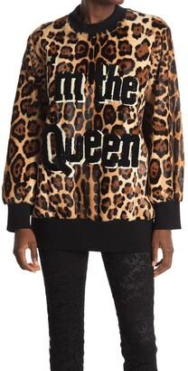Dolce & Gabbana Genuine Goat Fur Graphic Pullover