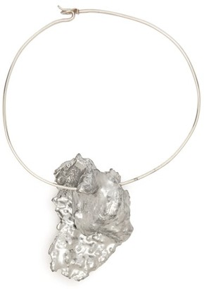 Ingy Stockholm - Wood And Wire Choker - Silver