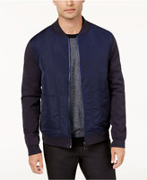 Ryan Seacrest Distinction Ryan Seacrest Distinctionandtrade; Men's Modern-Fit Stretch Mixed Media Bomber Jacket, Created for Macy's