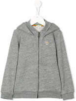 Paul Smith zebra embroidery zipped hoodie - kids - Cotton - 2 yrs