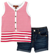 7 For All Mankind Tank & Short (Baby Girls)