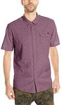O'Neill Men's Emporium Solid Short Sleeve Woven Shirt