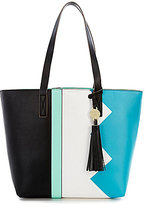 Kate Landry Maime Tasseled Geometric Colorblocked Tote