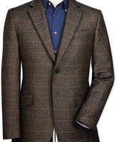 Charles Tyrwhitt Classic fit brown semi-plain lambswool jacket