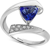 Effy Tanzanite Royalé Tanzanite (1 ct. t.w.) and Diamond Accent Bypass Ring in 14k White Gold