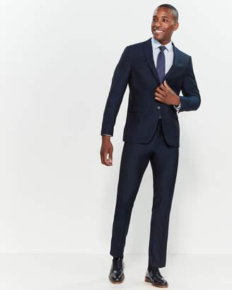 John Varvatos Navy Bedford Straight Two-Piece Wool Suit