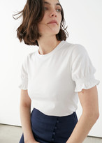 And other stories Smocked Sleeve Tee
