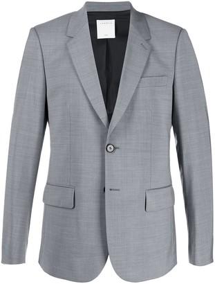 Sandro Paris single-breasted regular-fit blazer