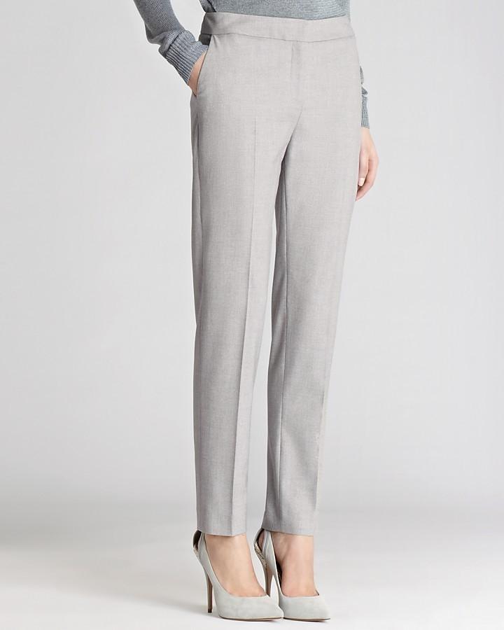 Reiss Trousers - Paris Cropped Slim Leg