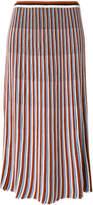 Christian Wijnants striped midi skirt