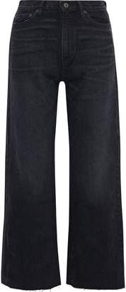 Simon Miller Bora Distressed High-rise Wide-leg Jeans