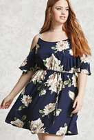 Forever 21 Plus Size Satin Floral Dress
