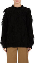 Robert Rodriguez WOMEN'S FRINGE MOCK TURTLENECK SWEATER