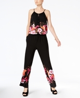 INC International Concepts Petite Floral-Print Jumpsuit, Created for Macy's