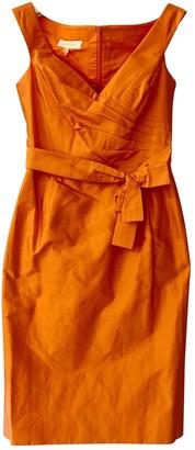 Escada Orange Silk Dress for Women Vintage