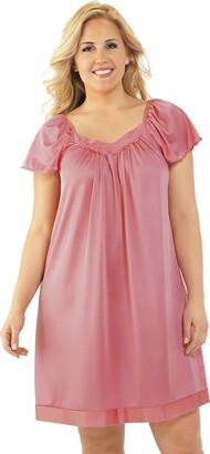 Exquisite Form Women's Coloratura Sleepwear Short Flutter Sleeve Gown 30109
