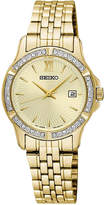 Seiko Women's Special Value Gold-Tone Stainless Steel Bracelet Watch 28mm SUR728