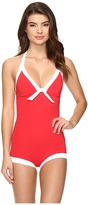 Seafolly Block Party Boyleg Maillot One-Piece
