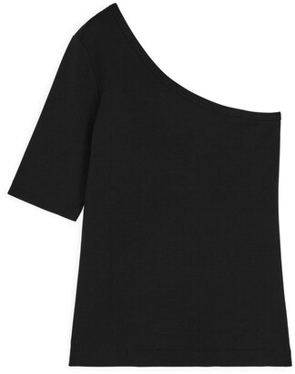 Arket One-Shoulder Fitted Jersey Top